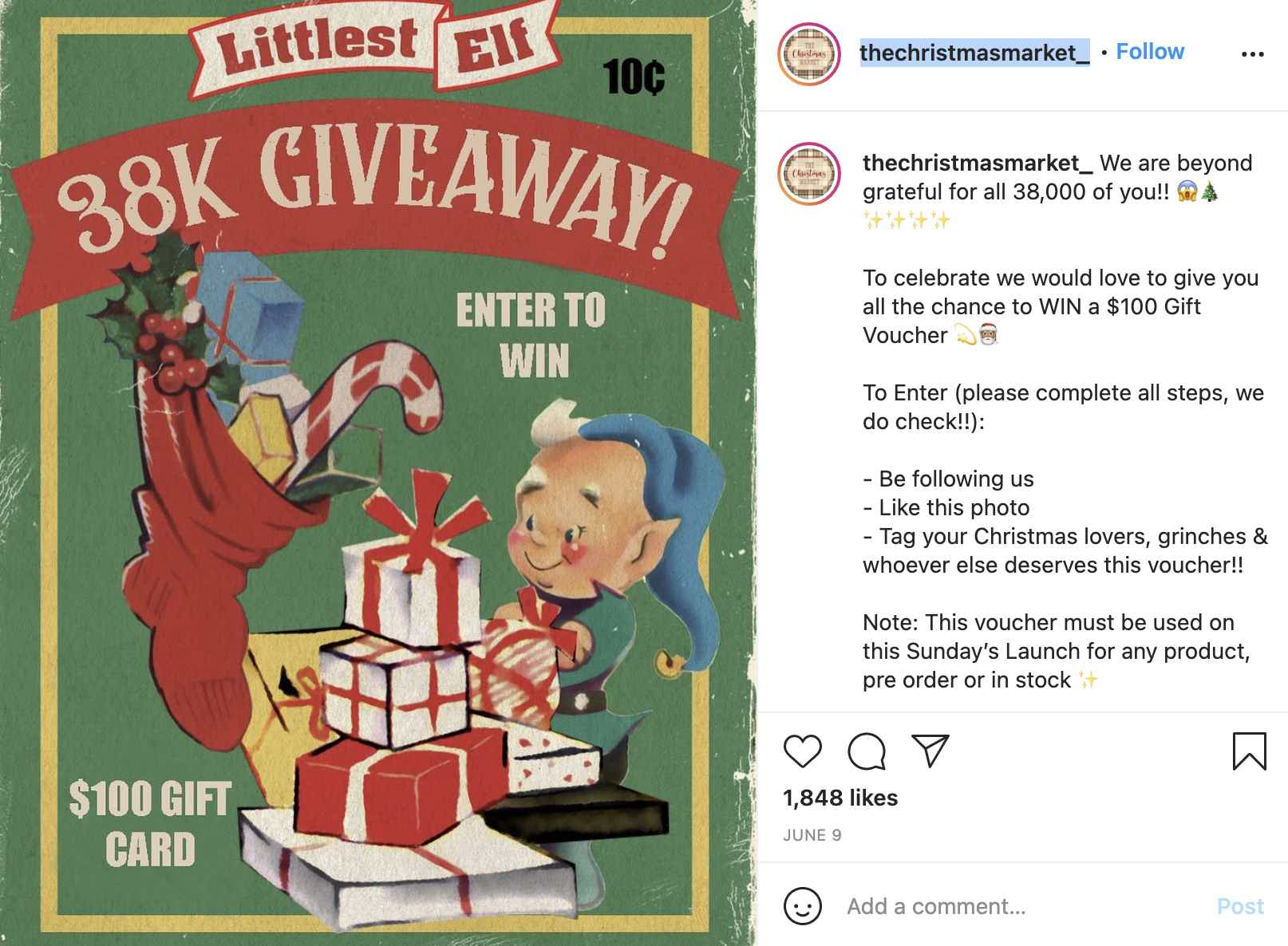 The Christmas Market Instagram Giveaway