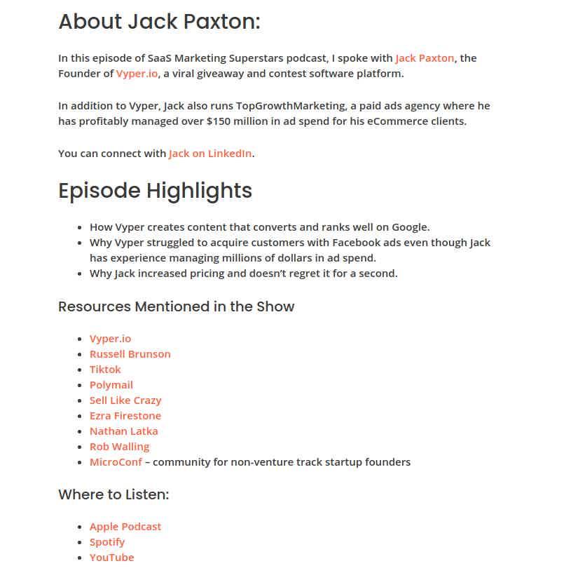 Aaron Zakowsk Podcast Jack Paxton Episode Blog Post