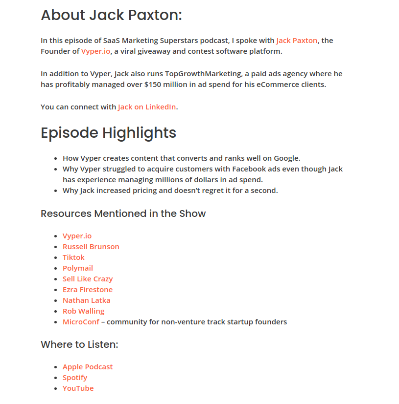 Aaron Zakowsk Podcast Jack Paxton Episode Blog Post
