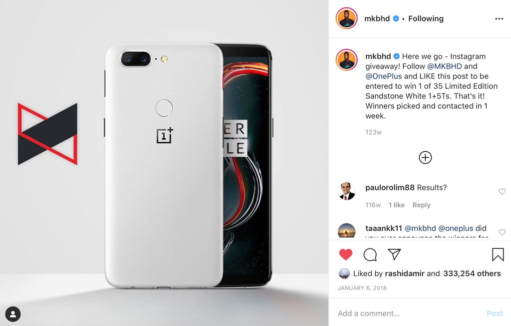 MKBHD OnePlus Giveaway