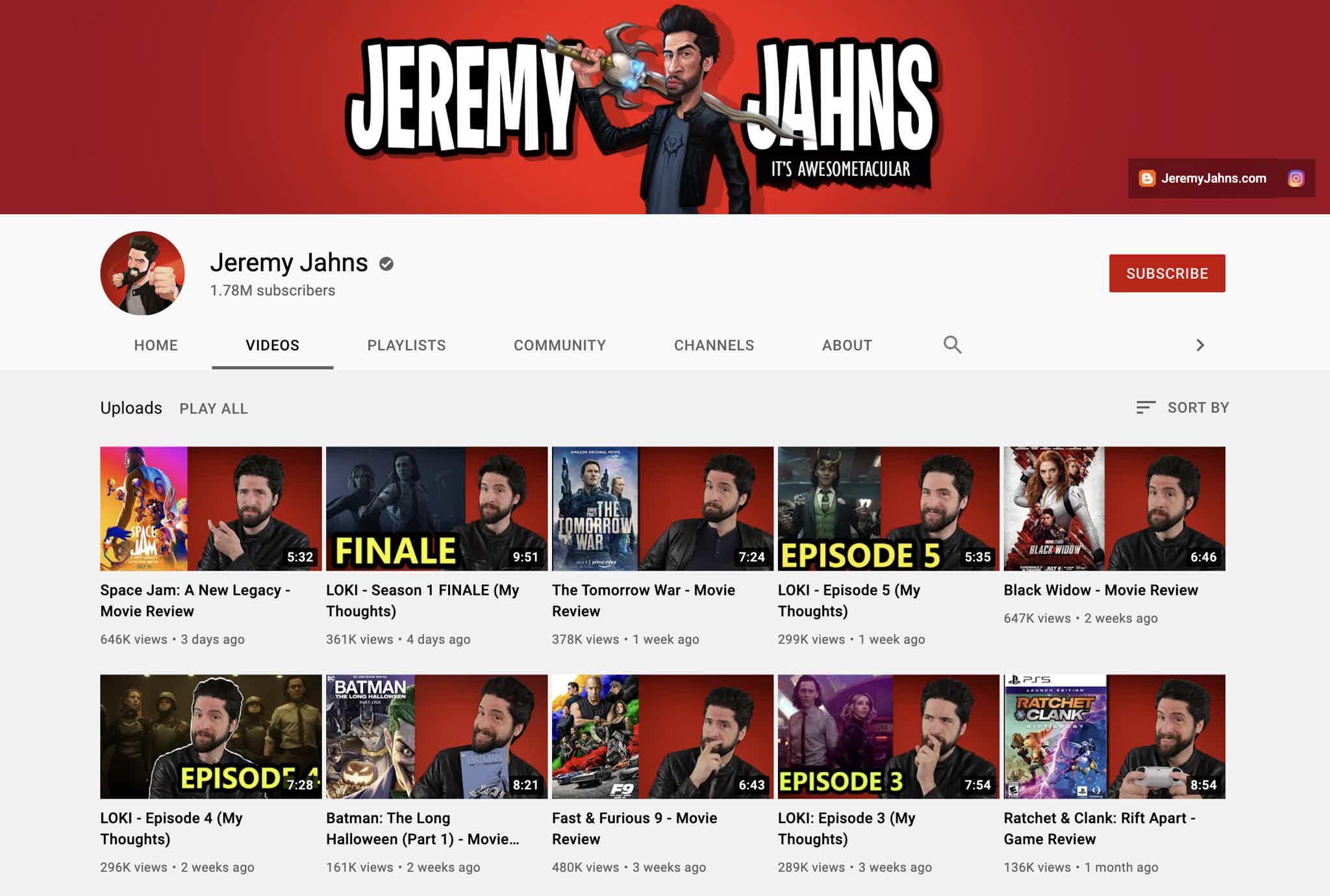 Jeremy Jahns YouTube
