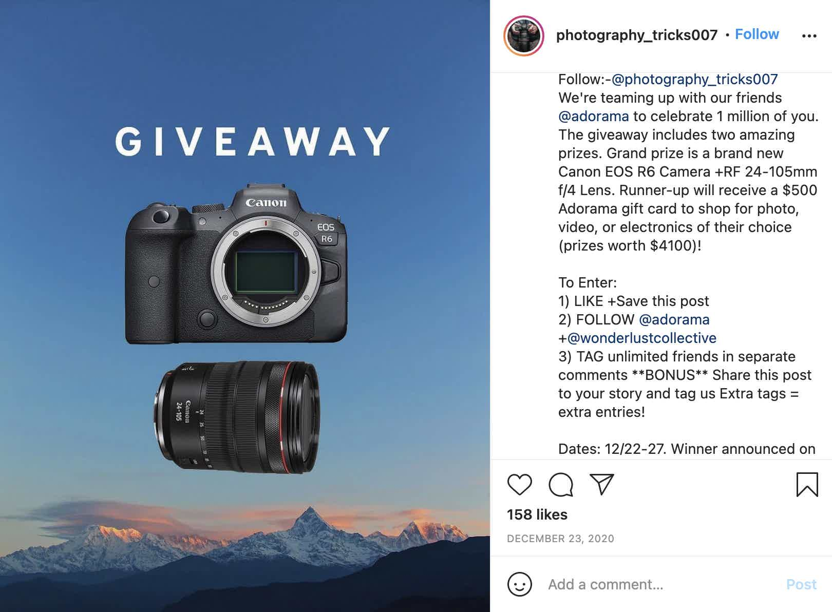 Photography Tips & Tricks Giveaway