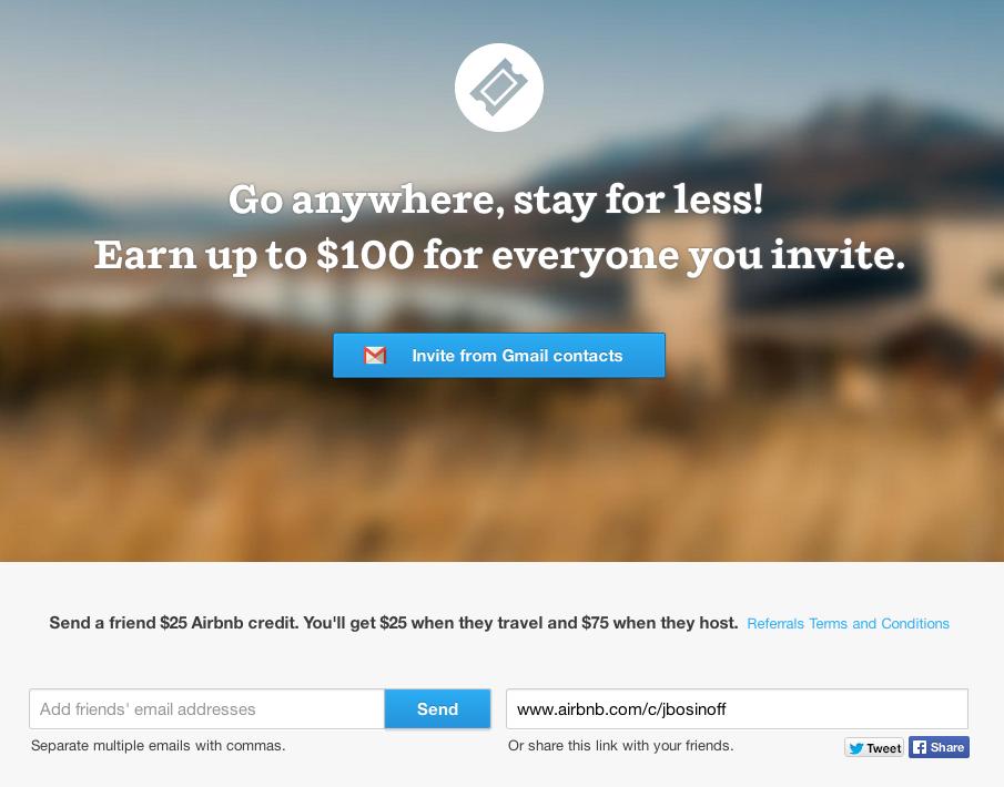 Airbnb referral