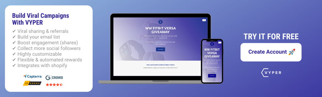 VYPER Free Account Signup WW