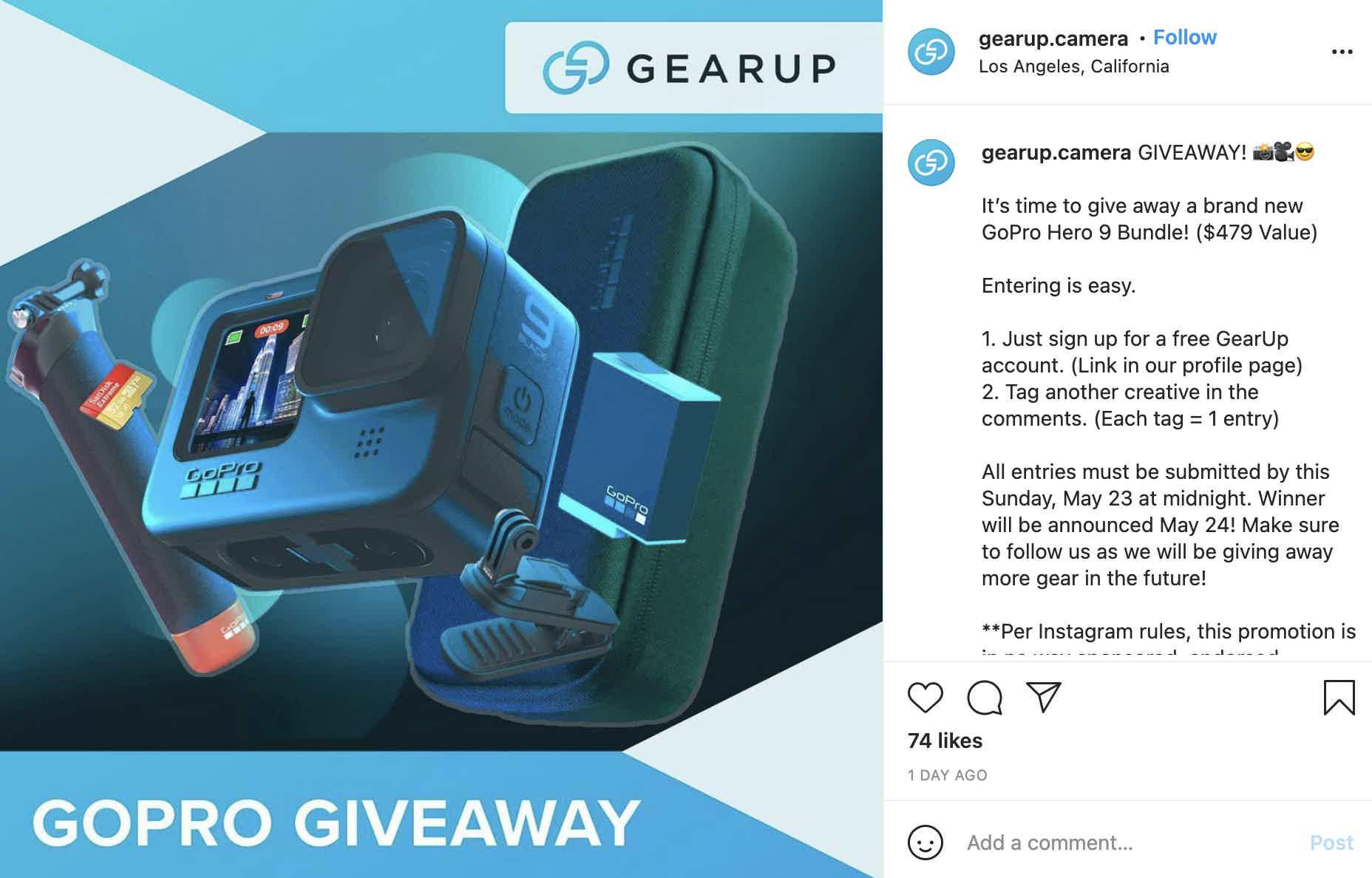 Gearup Camera Giveaway