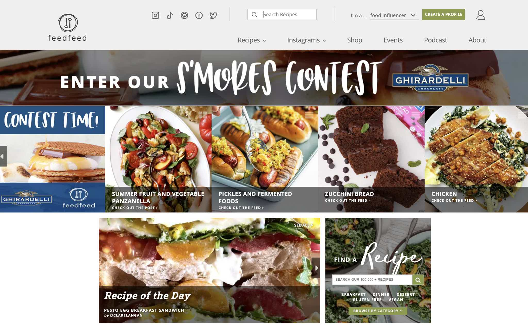 The Feed Feed Website