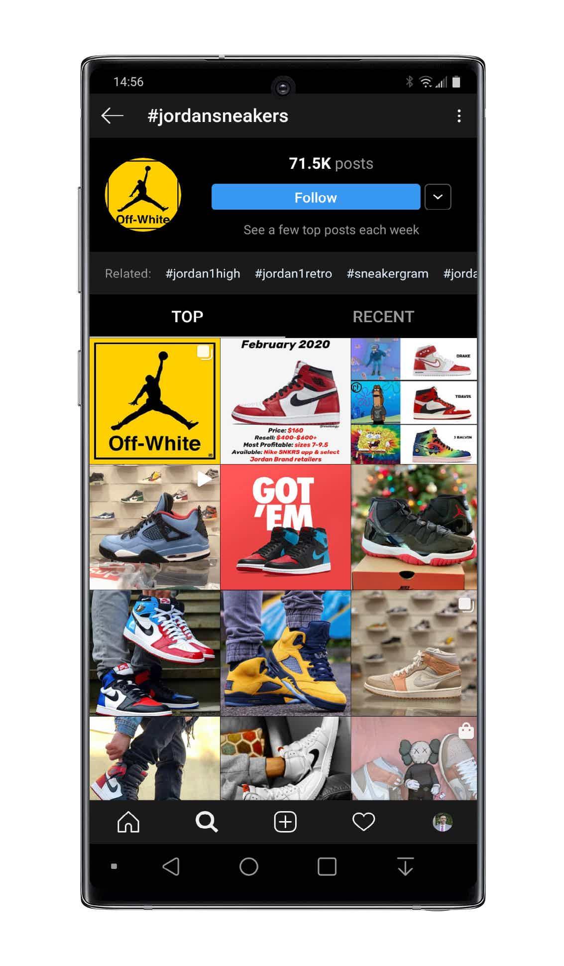 Instagram jordan sneakers hashtag