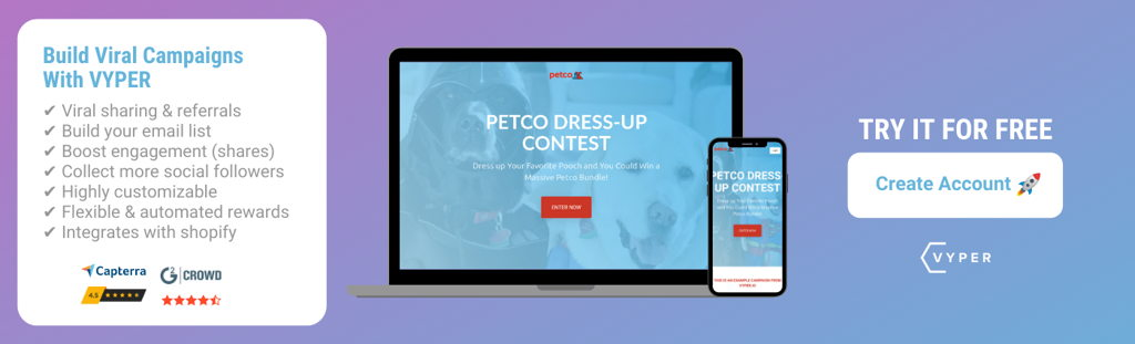 VYPER Free Account Signup PETCO