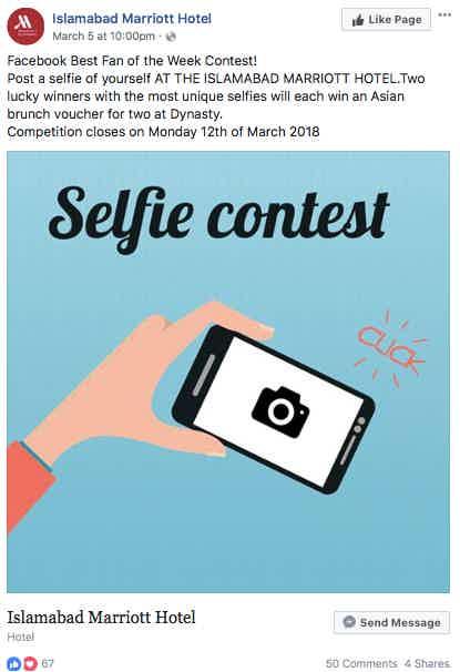 Facebook Fan contest