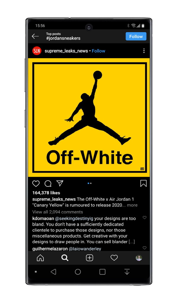 Instagram Jordan Sneakers top post