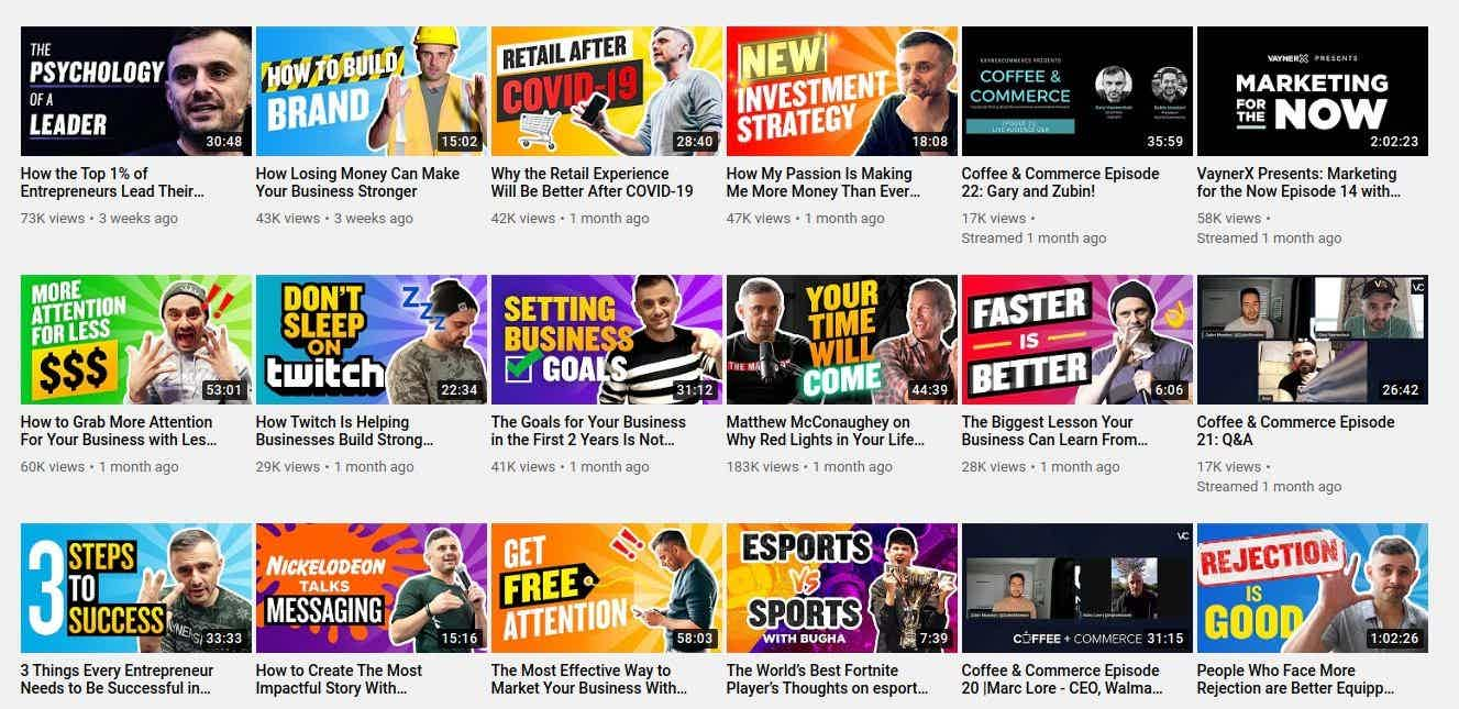 Gary Vee Youtube Thumbnails