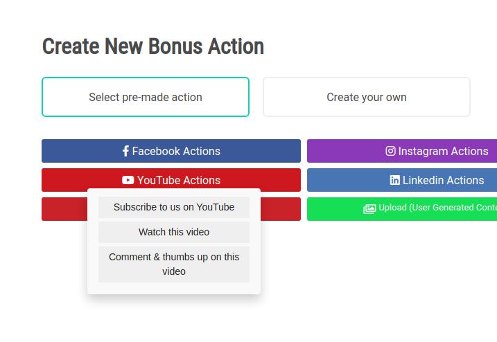VYPER YouTube Bonus Actions