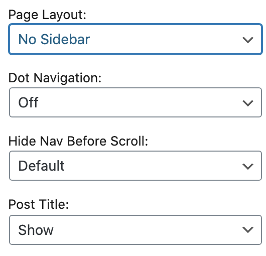Blog Sidebar settings