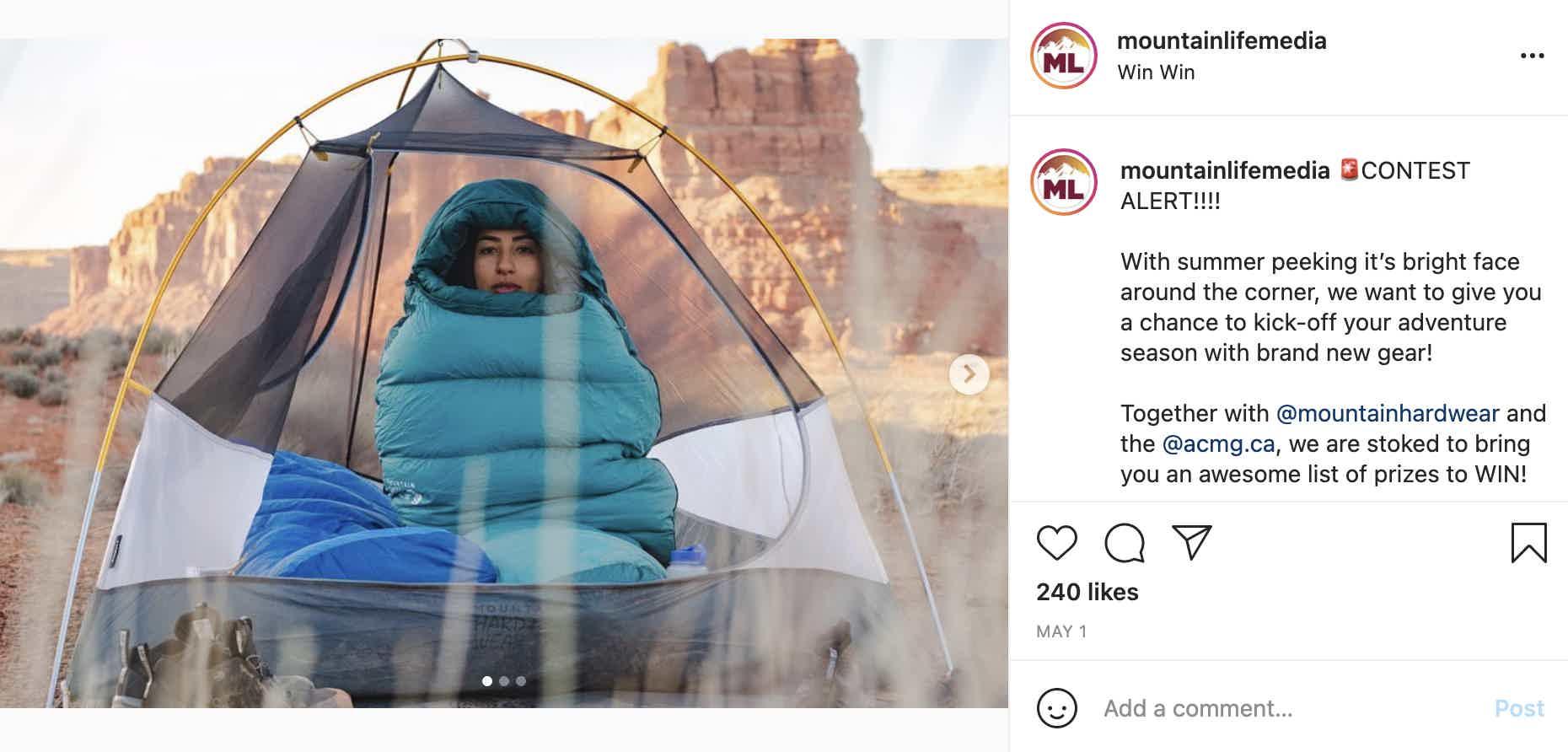 Mountain Life Media Instagram Giveaway