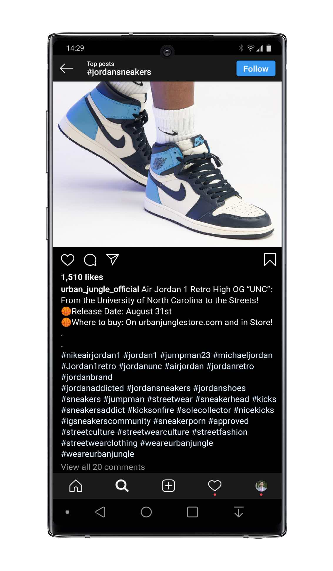 30 hashtags max limit on Instagram