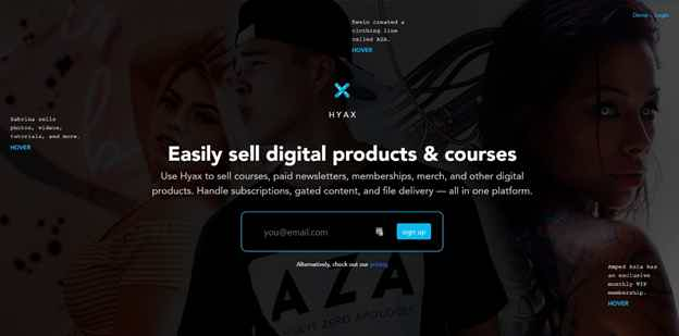 Hyax Landing Page