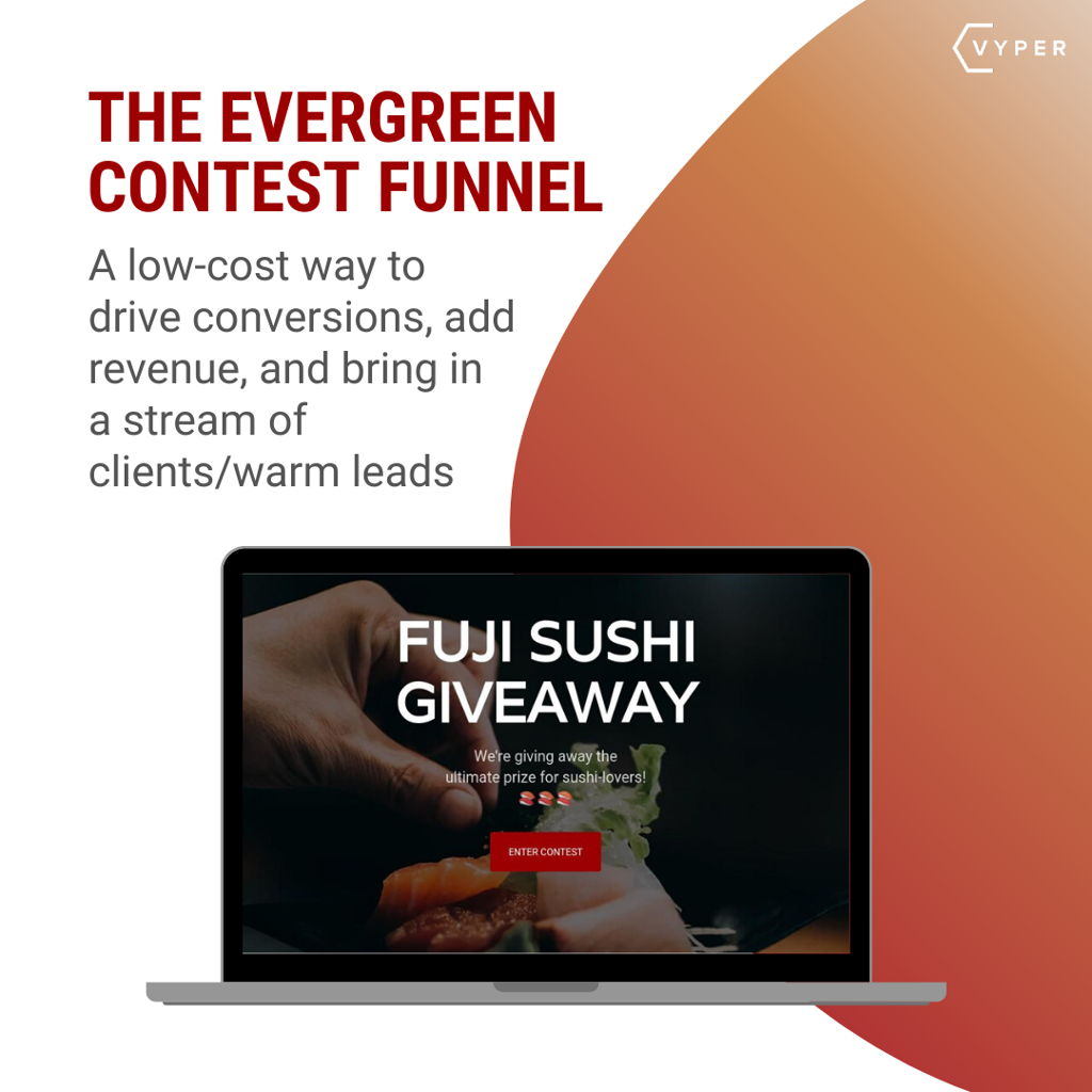Evergreen contest funnel