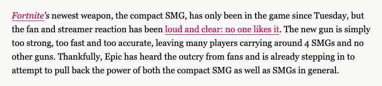 Fortnite SMG Controversy 2018