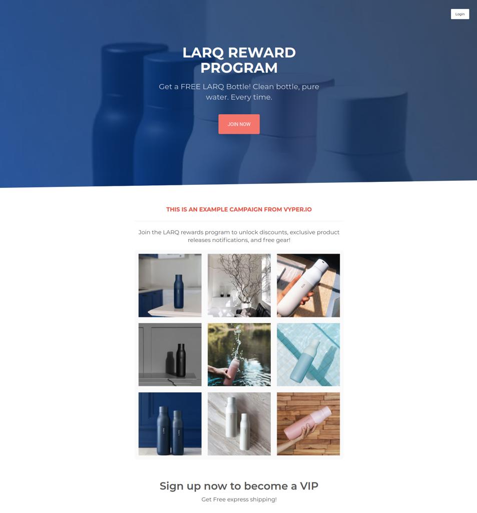 LARQ Rewards program