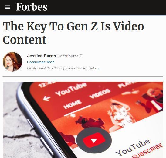 Forbes Gen Z article