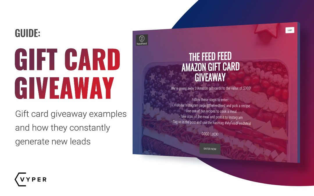 Gift Card Giveaway Examples and How They Constantly Generate New Leads