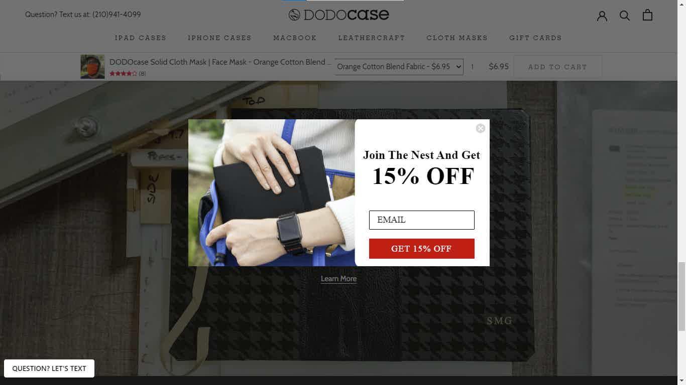 Dodocase Popup Discount