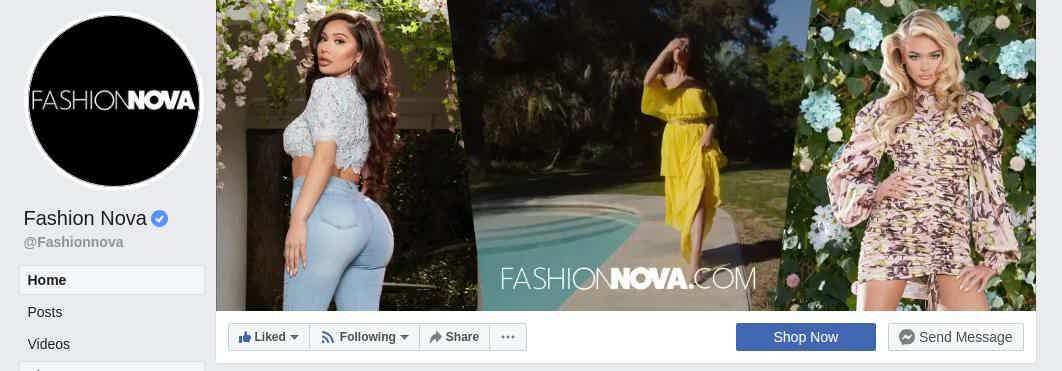 Fashion Nova Shop now