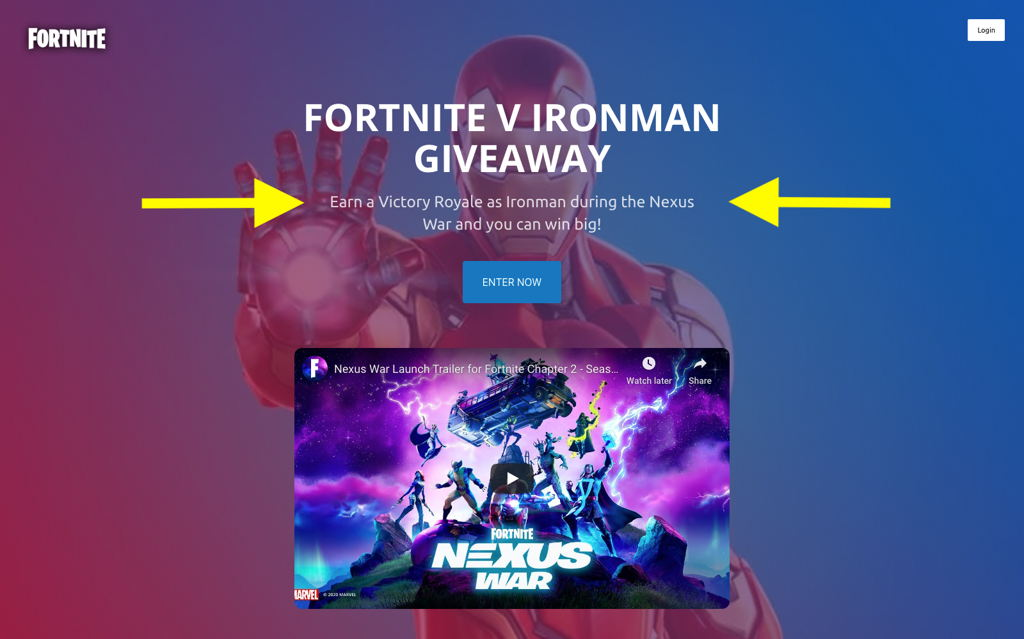 Fortnite Giveaway Offer