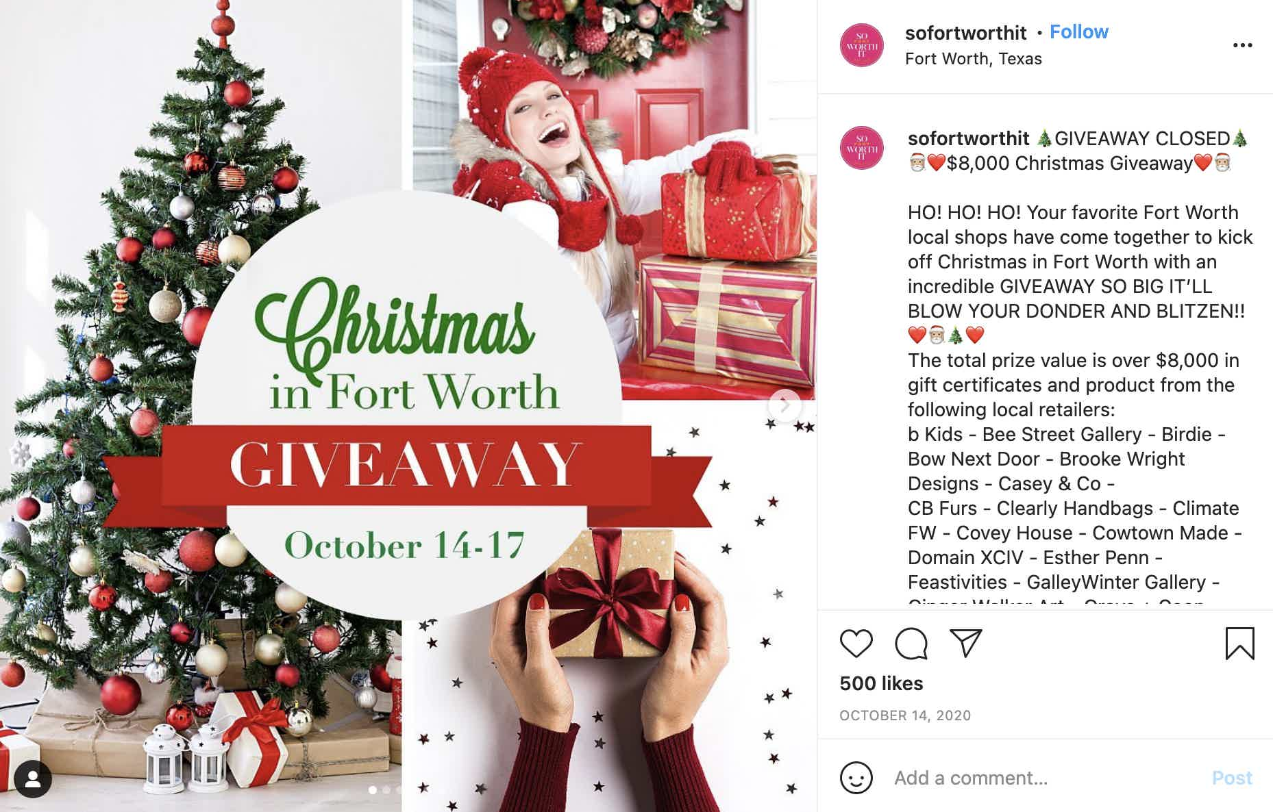 So Fort Worth It Instagram Giveaway