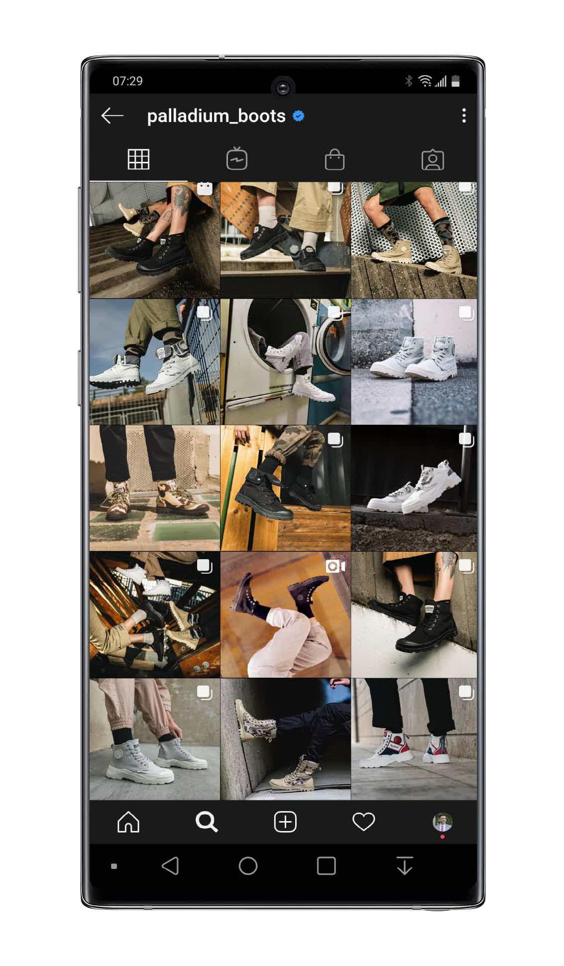 palladium boots instagram