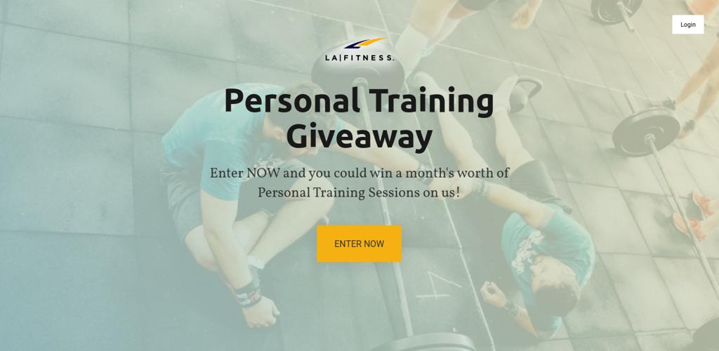 LA Fitness PT Giveaway