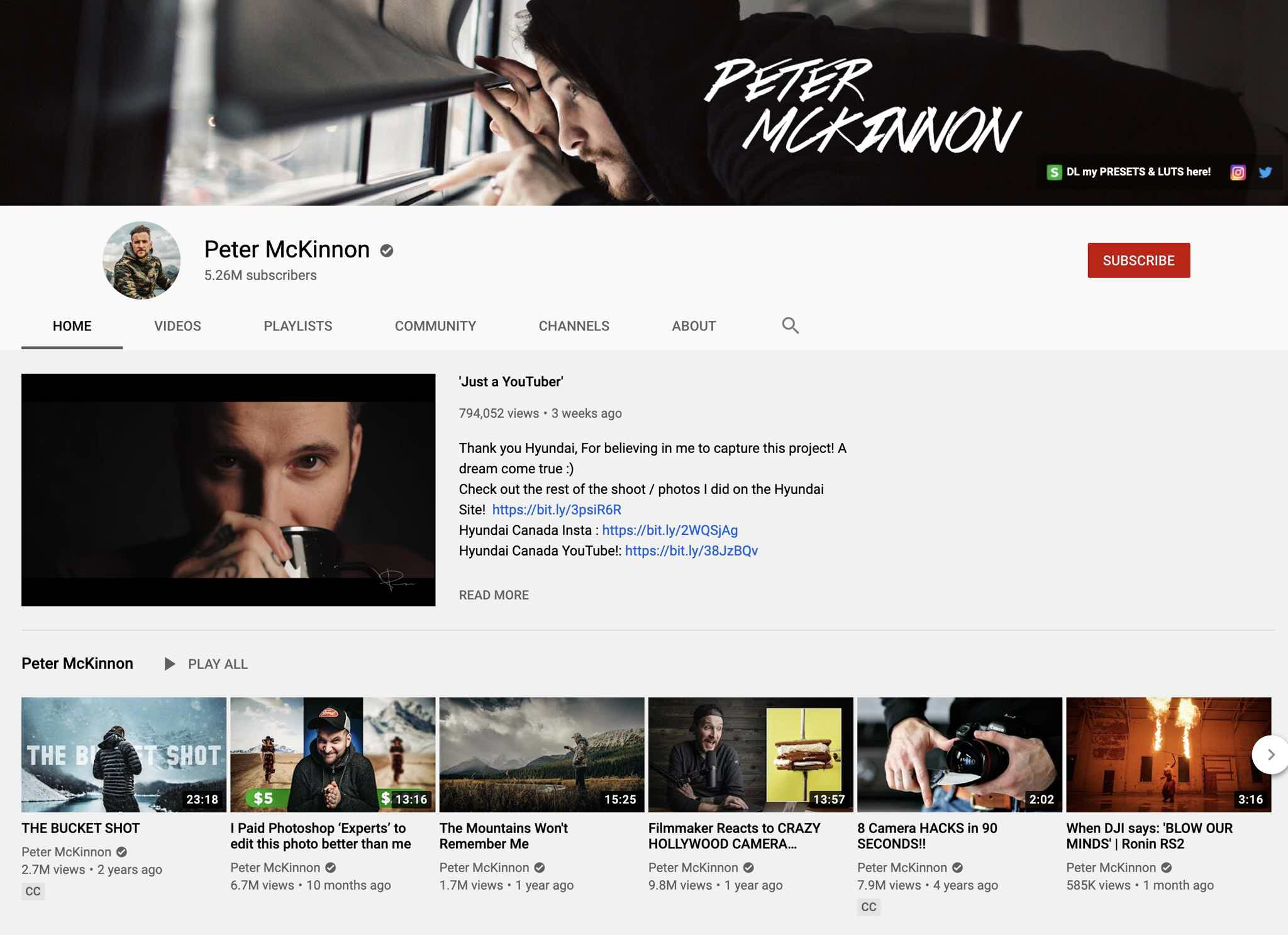 Peter Mckinnon YouTube Trailer