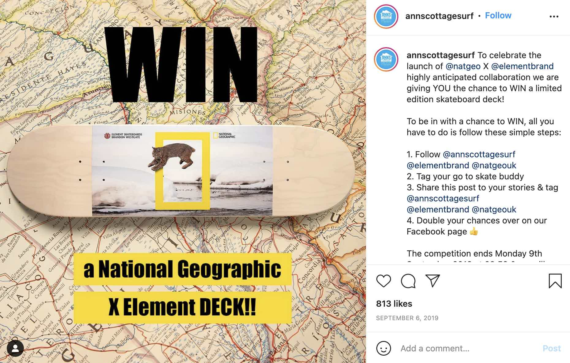 Anns Cottage Surf Element Contest