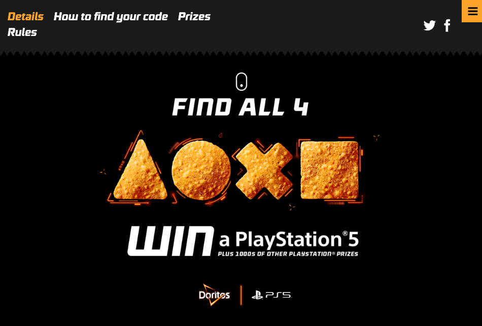Doritos PS5 Prize