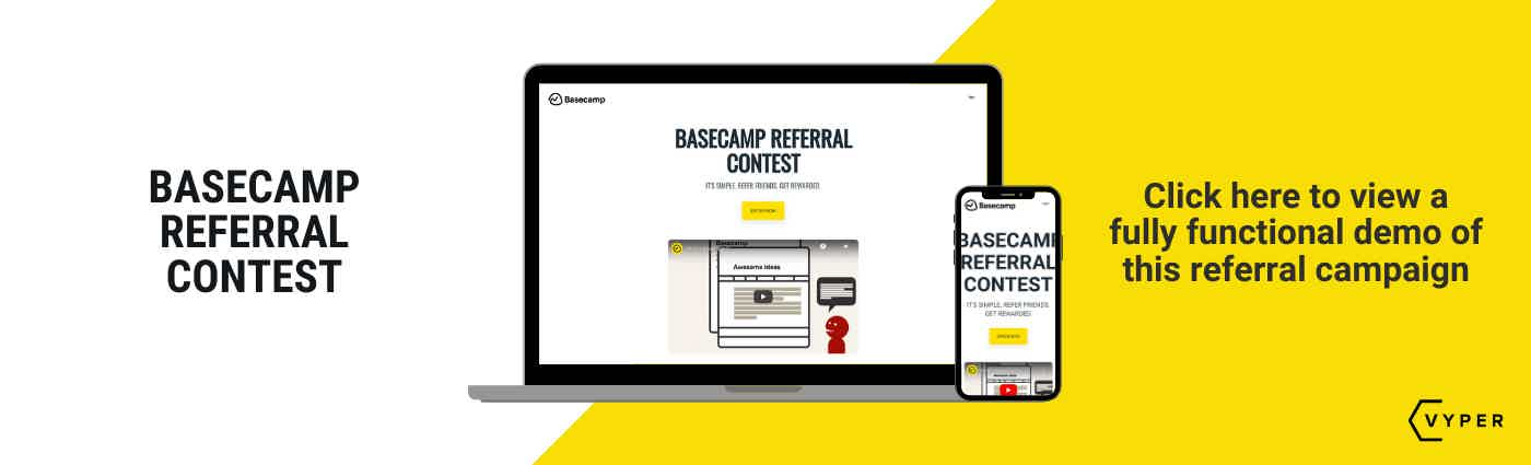 Basecamp referral program VYPER