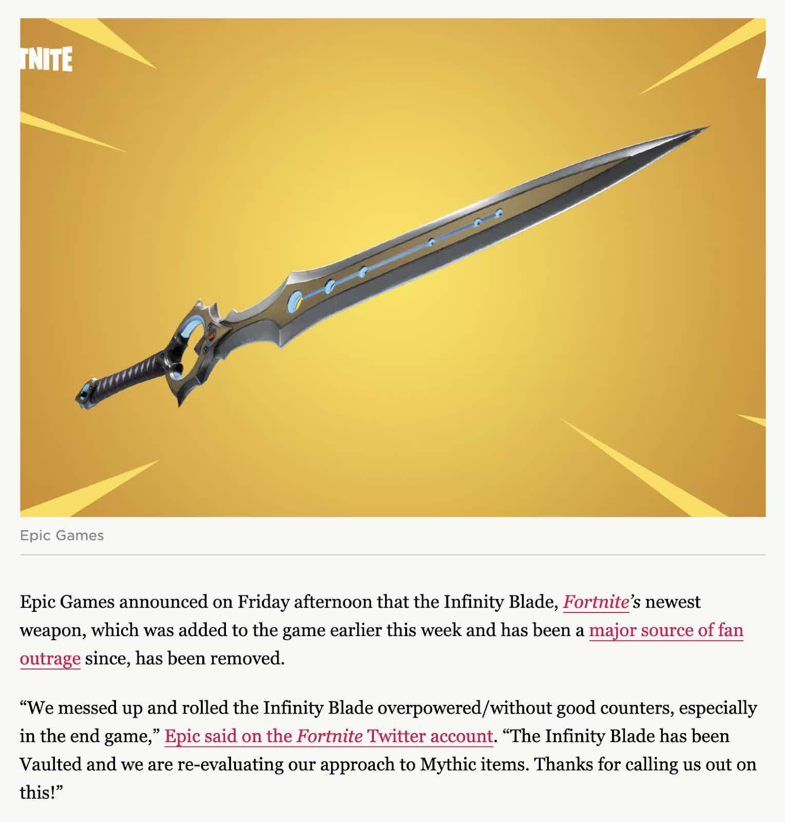 Fortnite Infinity Blade