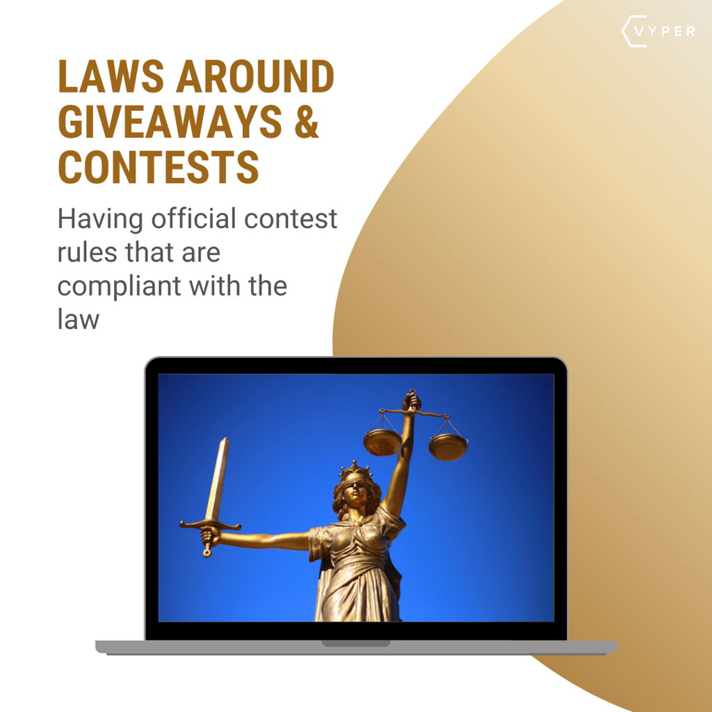 Laws around giveaways and contests