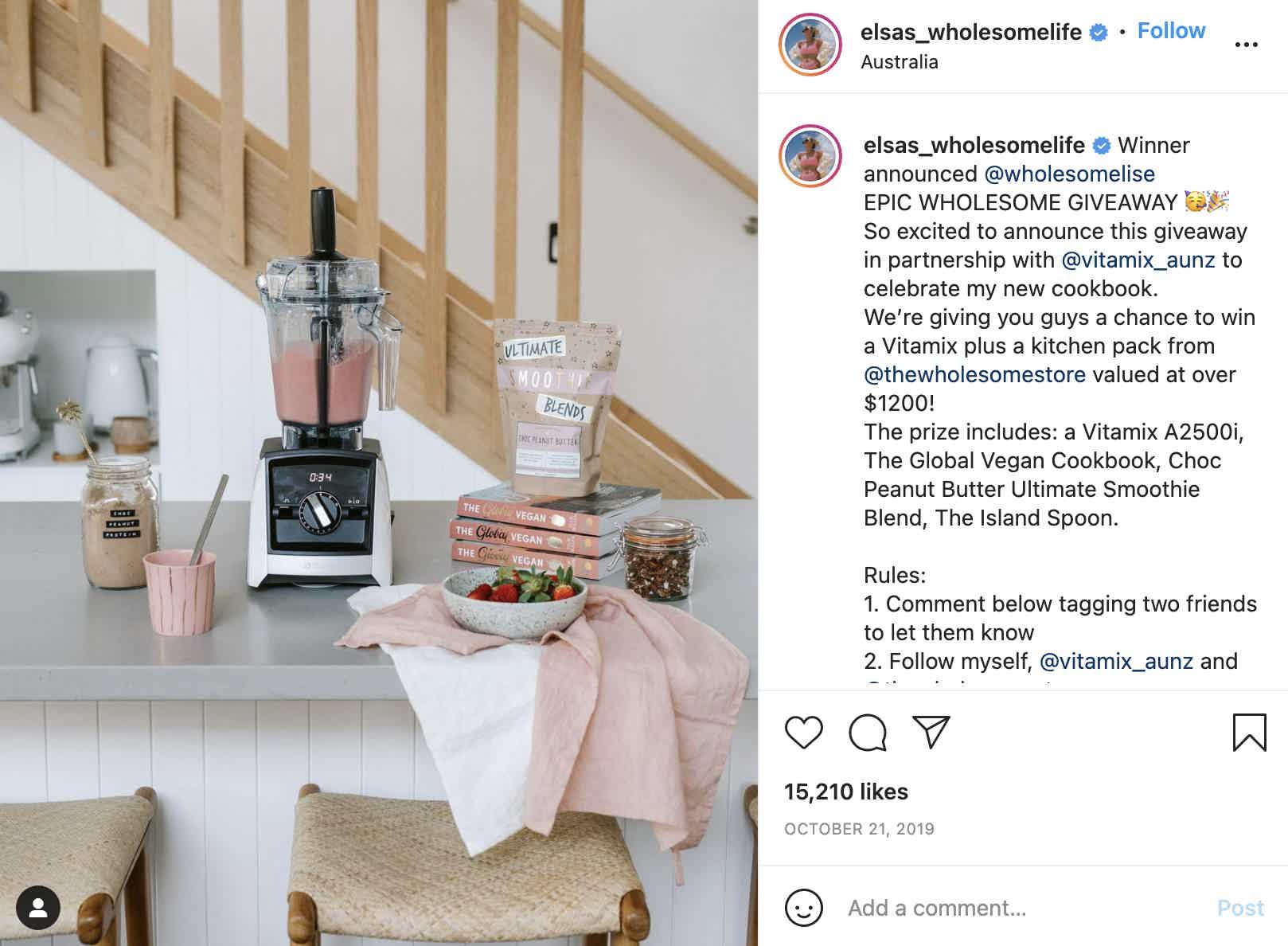 Elsas Wholesome Life Instagram Contest