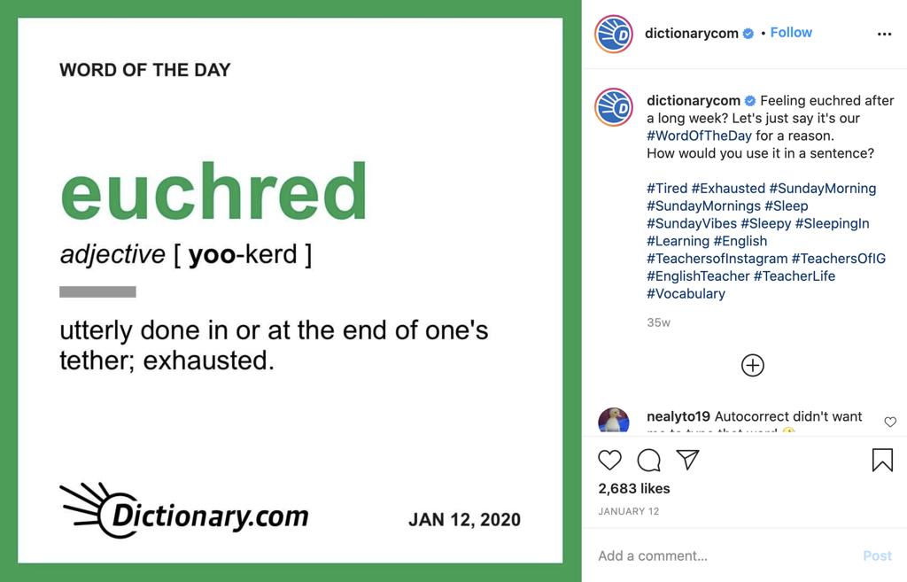 Dictionary.com.Instagram
