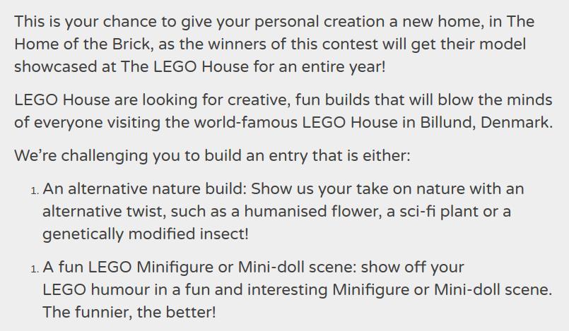 Lego Ideas Contest Rules