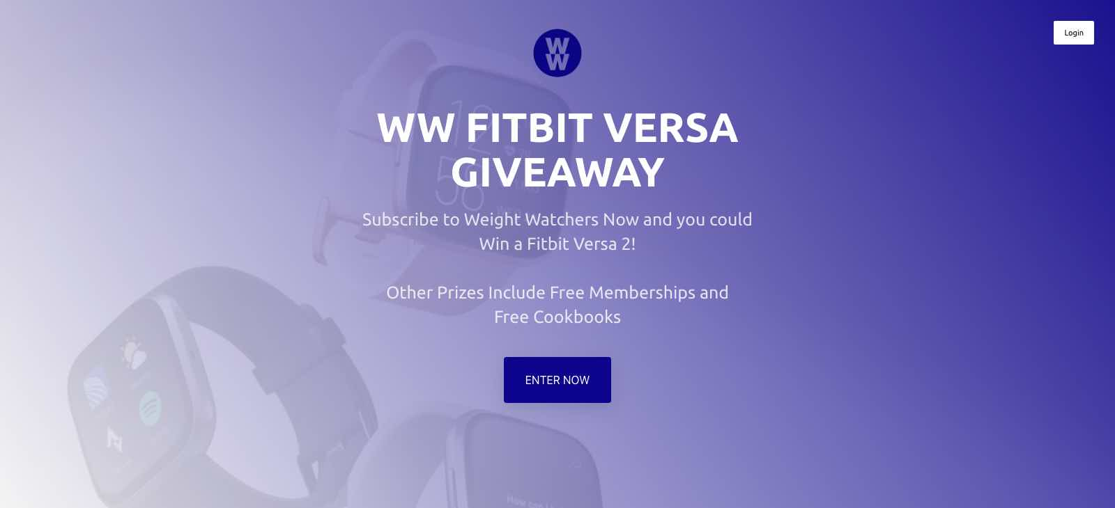 Weight Watchers Fitbit Versa Giveaway