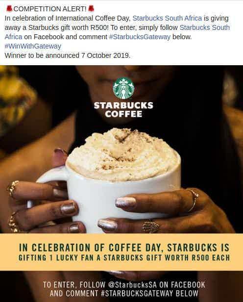 starbucks contest hashtags gateway