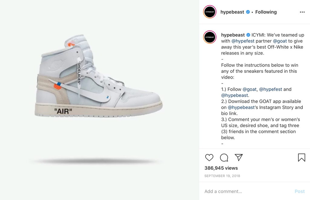 Hypebeast Nike Giveaway