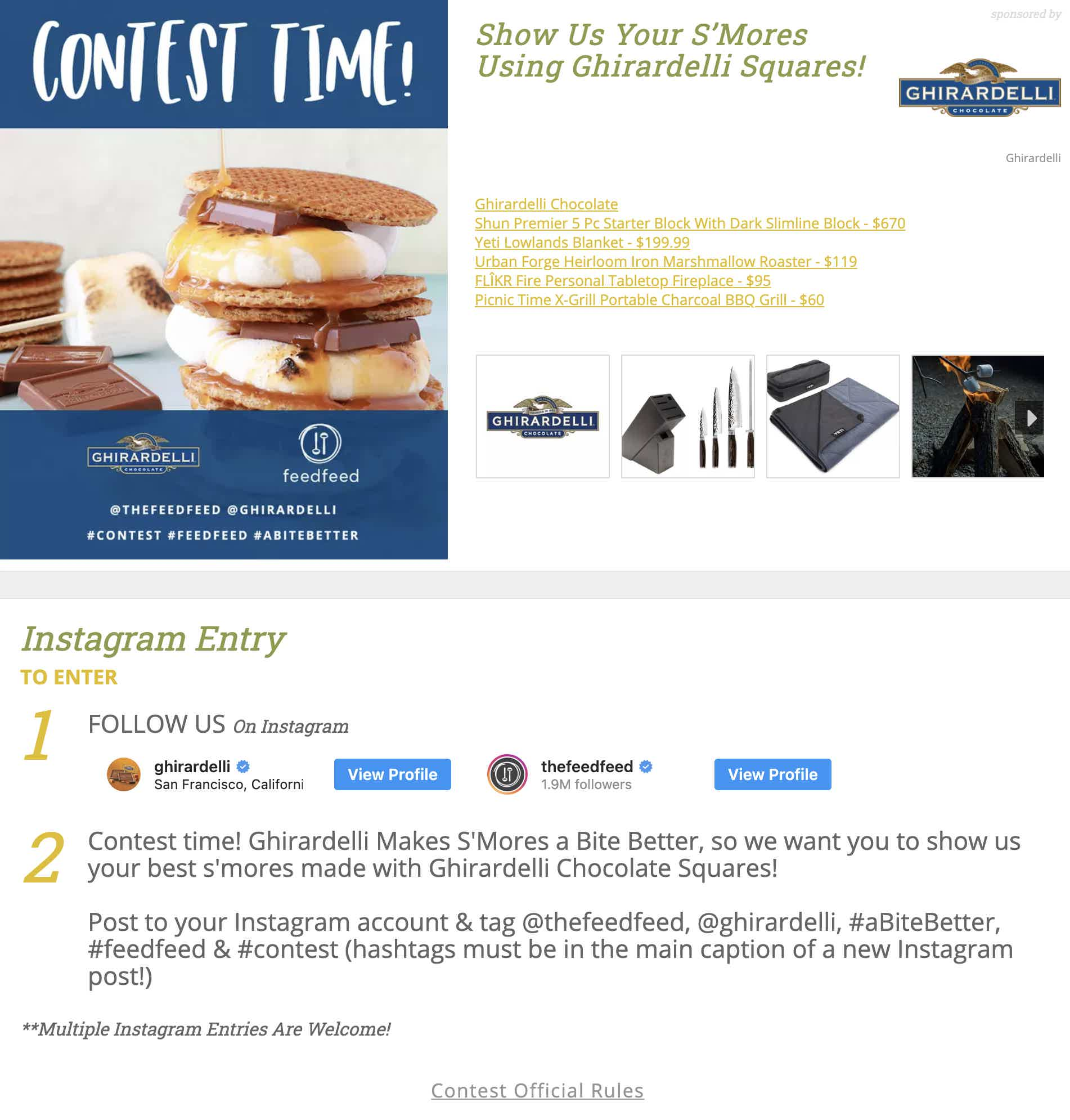 The Feed Feed Ghirardelli Contest
