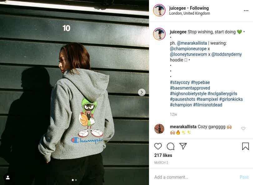 Juicegee Instagram