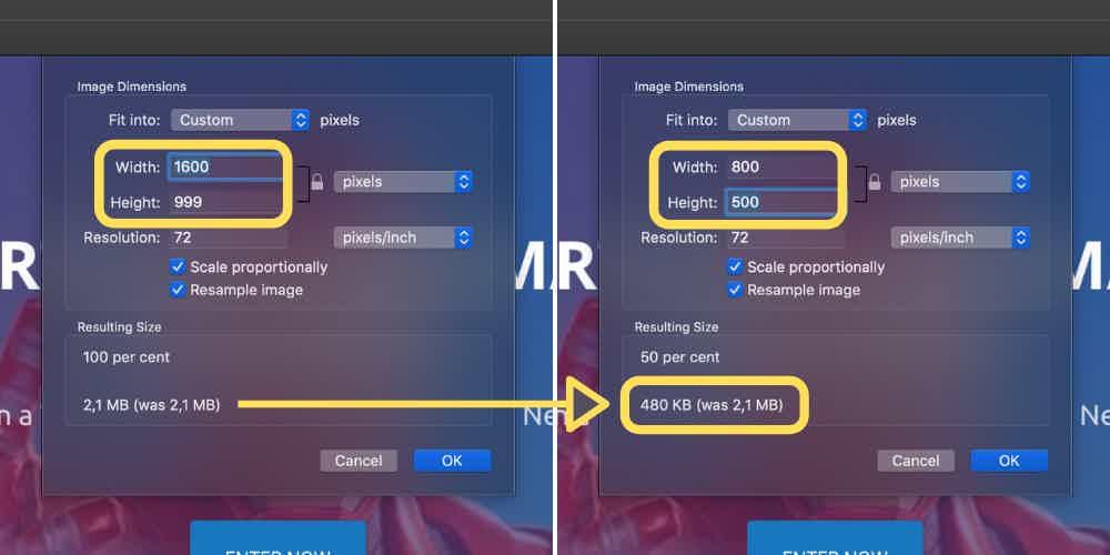 Lowering image size