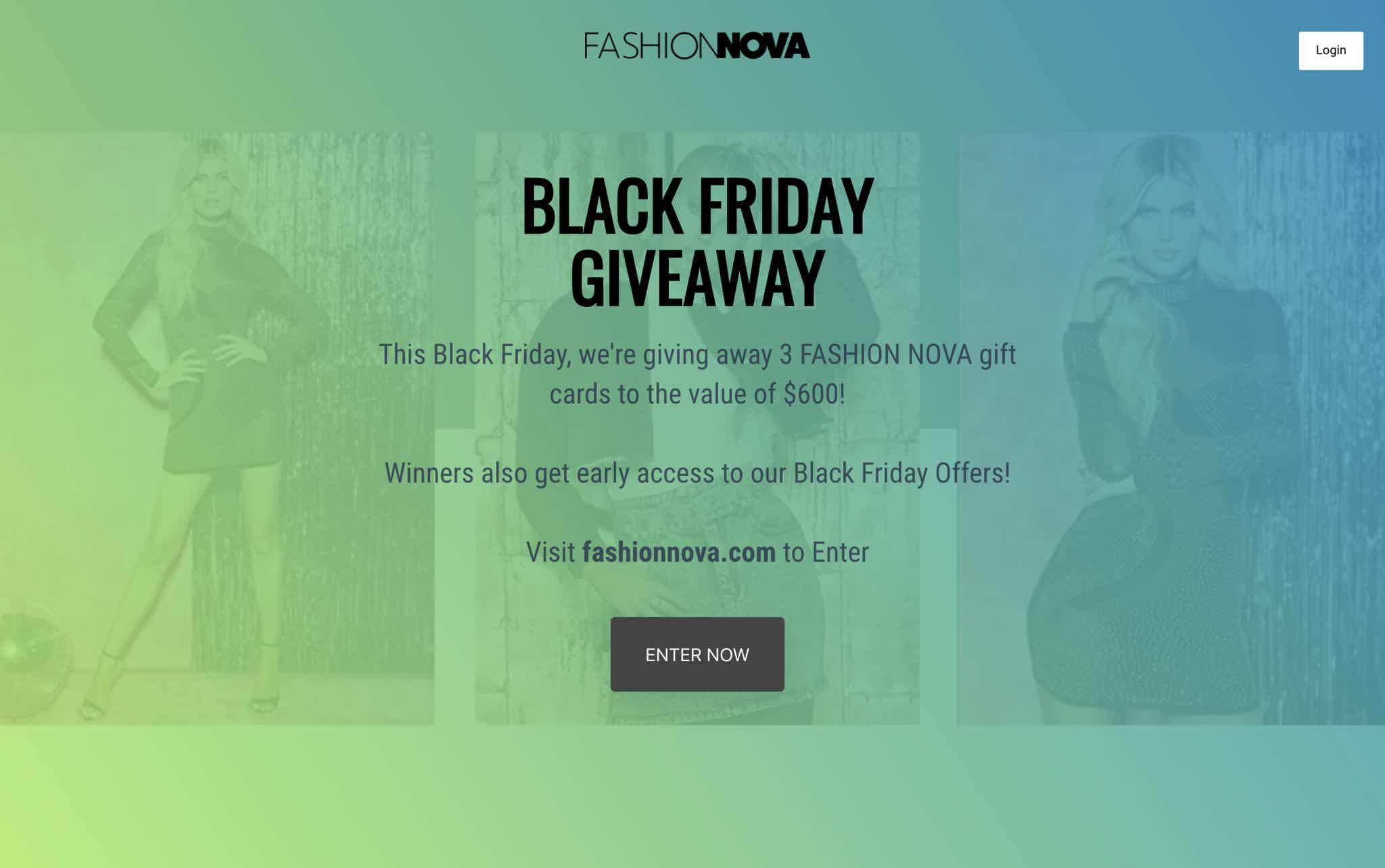 Fashion Nova Black Friday Giveaway