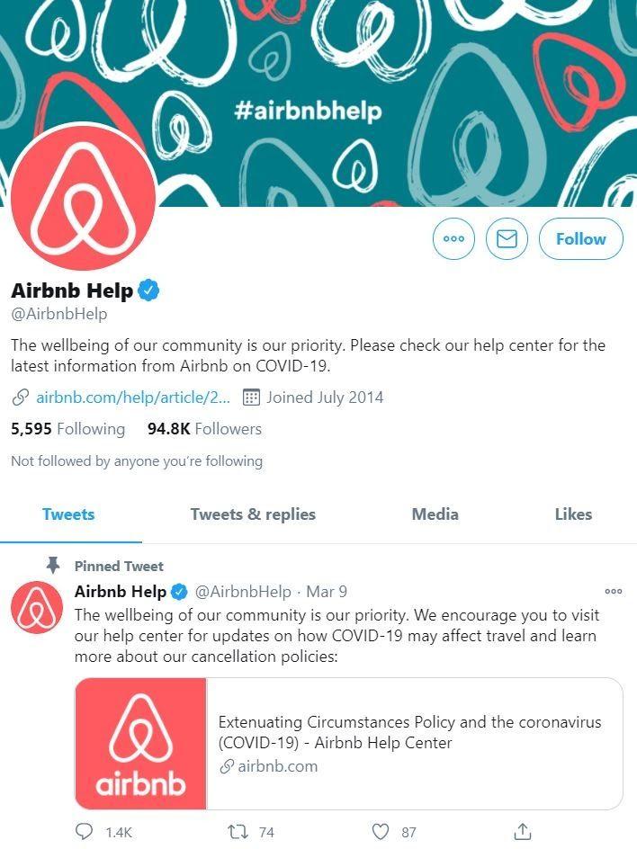 Airbnb Twitter Help