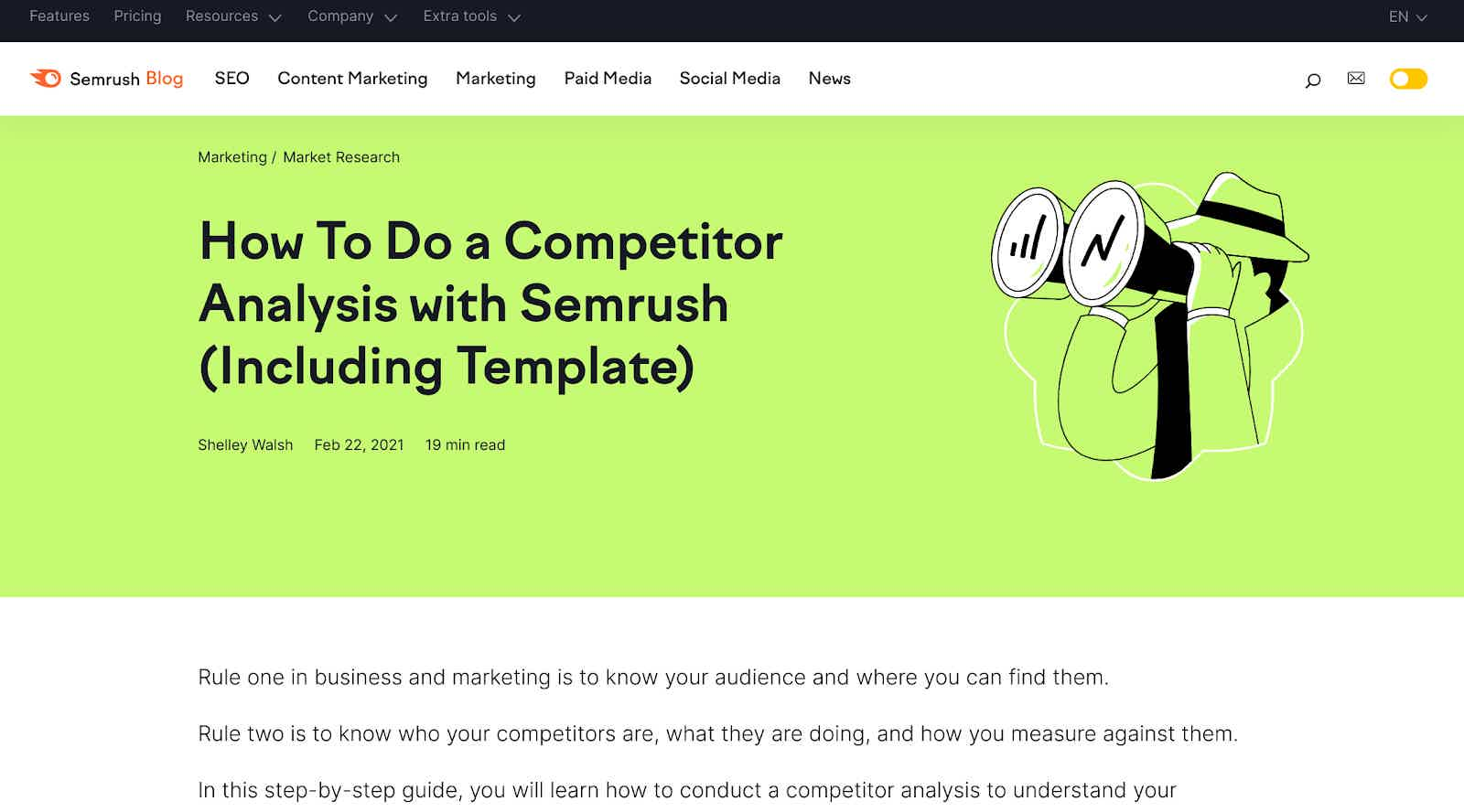 content marketing strategies SEM Rush