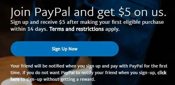 Paypal referral